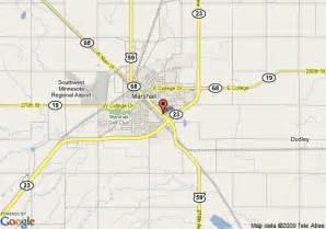 map of 8 motel marshall marshall