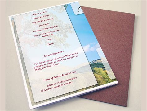 general cards template general card funeral program template funeral program