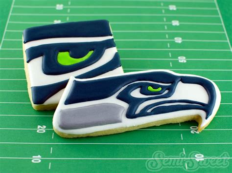 Super Bowl Decorating Ideas Seattle Seahawks Cookies Tips On Icing Sports Logos