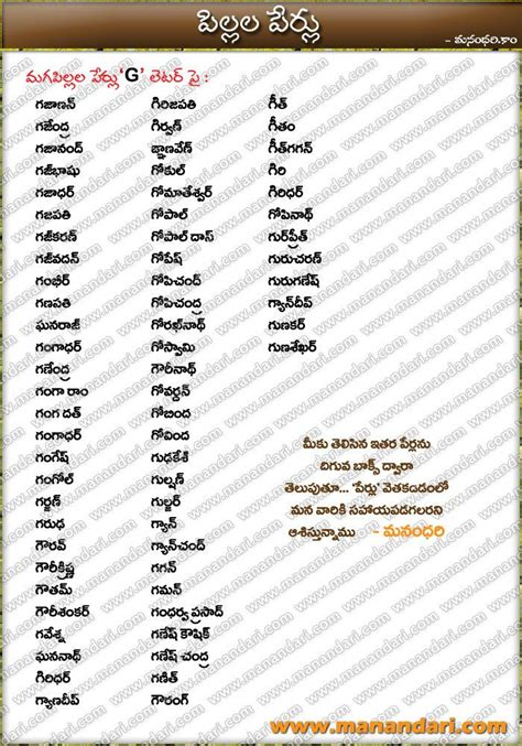 Baby Names In Tamil Letter V