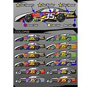 Details About RACE CAR GRAPHICS Vinyl Decal IMCA Late