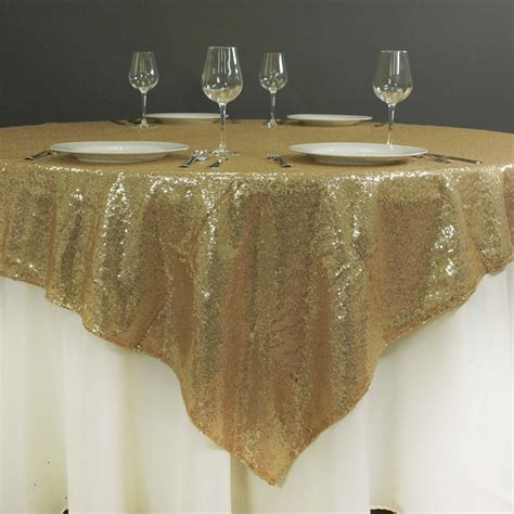 what size overlay for 72 table 72 quot x72 quot grand duchess sequin table overlays chagne