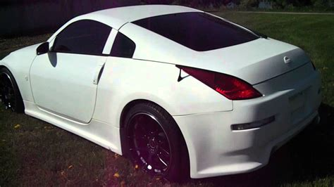 white nissan 350z modified 1 of a kind custom nissan 350z with flat white paint and