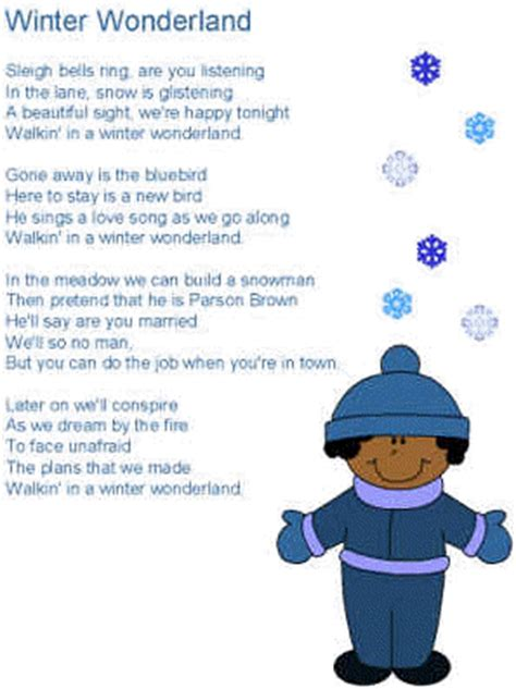 printable lyrics for walking in a winter wonderland modern christmas carol rebus puzzles new calendar