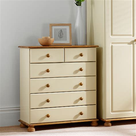 Hton Cream Pine Large Chest Of Drawers Chest Of Bedroom Furniture Asda