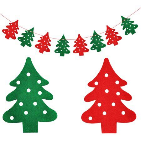 diy christmas tree bunting hanging garland banner string party flag home office holiday