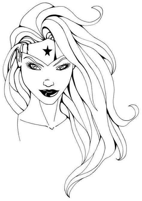 wonder woman coloring pages free coloring home