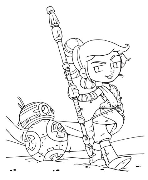 Star Wars The Last Jedi Cute Coloring Pages Youloveit Com Jedi Coloring Pages