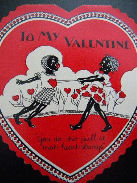 black valentines day vintage black americana s day card mint