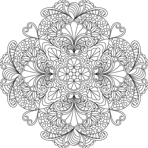illustrations and meditations or flowers from a puritan s garden classic reprint books zentangle coloring page mandala with flowers stock
