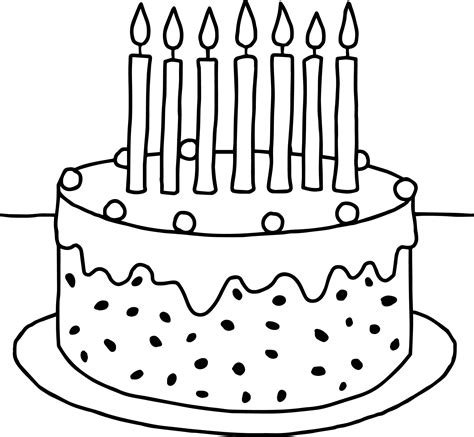 preschool birthday cake coloring pages wecoloringpage