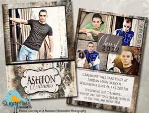 graduation announcement photoshop template senior graduation 3 graduation announcements