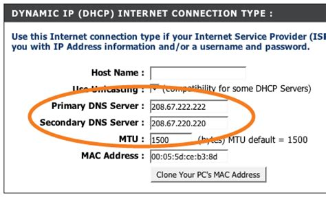 best open dns server configuration for d link dir 615 opendns
