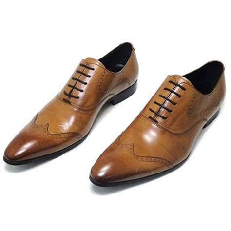 formal boots for mens new genuine oxford leather lace up slip on boots