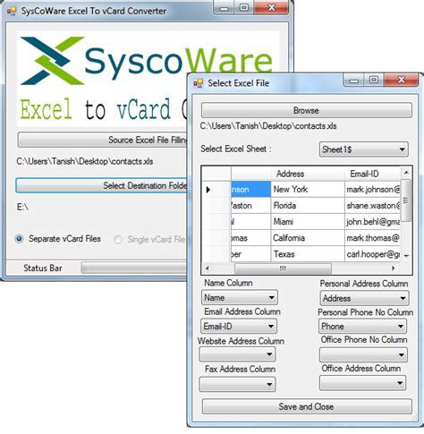 format vcard excel excel to vcf converter