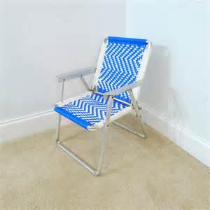 child s vintage macrame lawn chair chair aluminum
