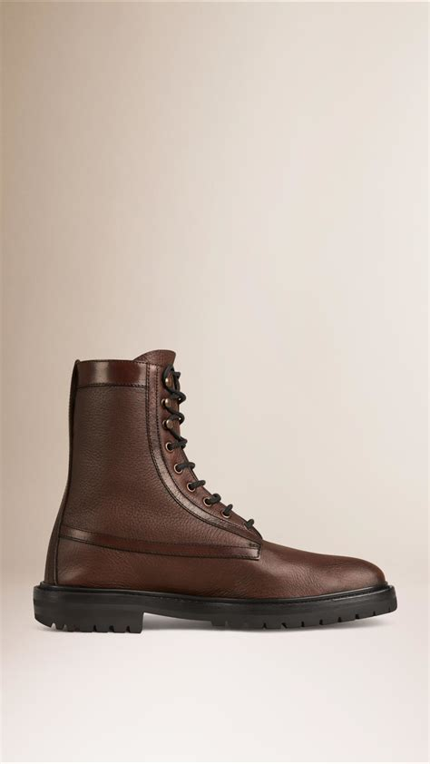 burberry boots mens burberry deerskin boots in brown for lyst
