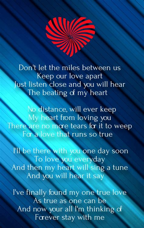 distance poems for him from the