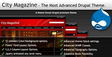 themeforest drupal 7 themeforest city magazine the most advanced drupal theme