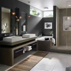 Minimalist monochrome bathroom modern bathroom colors dark gray wall