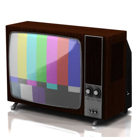 tv pictures television set 1970 for poser 3d models digimation modelbank