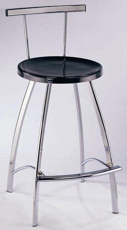 Bar Stools With Chrome Legs by Contemporary Bar Stool With Black Seat And Chrome Legs