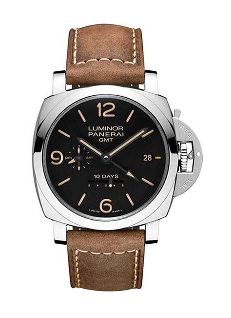 Panerai Power Reserve Silver Brown Leather Automatic pam00533 panerai 1950 gmt power reserve essential watches