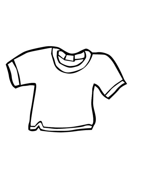 Coloring Page T Shirt by T Shirt Coloring Page Coloring Home