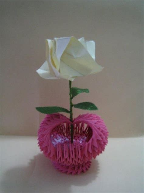 3d Origami Flower Vase - 1000 images about 3d origami on