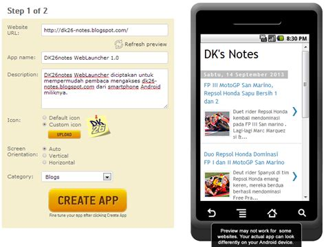 membuat website launcher android dk s notes danikustiawan id membuat web launcher blog
