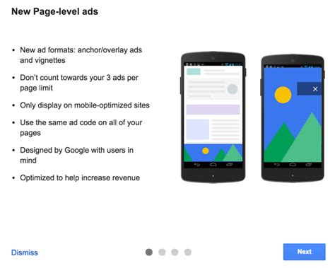 adsense for mobile apps adsense page level ads is here to monetize your mobile site