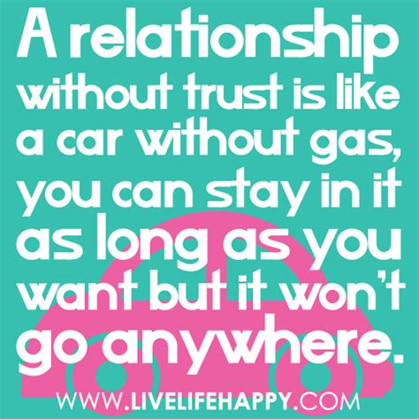 a relationship without trust live happy