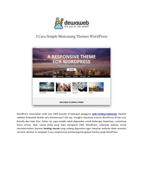 cara membuat wordpress theme 3 cara simple memasang themes wordpress