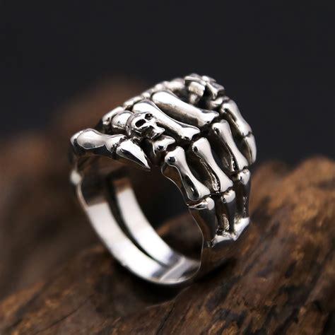 Handmade Skull Rings - handmade sterling silver skull ring silver skull ring