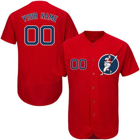 design jersey custom new red sox red men s customized flexbase new design