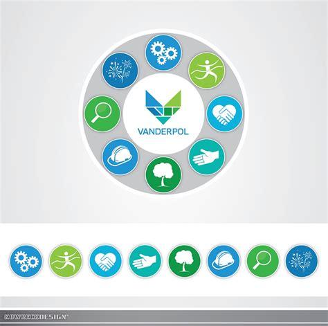 design icon button artistic button icon design for vanderpol food group