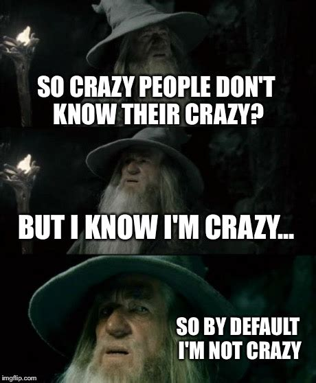 memes about crazy people confused gandalf meme imgflip