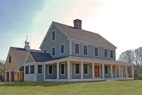 farmhouse with wrap around porch plans new england farmhouse w wrap around porch hq plans