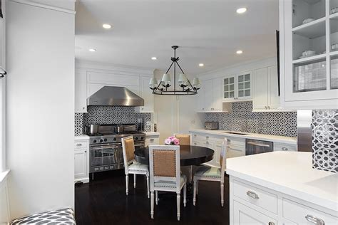 lilly bunn interiors black and white mosaic tiles transitional kitchen lilly bunn interior