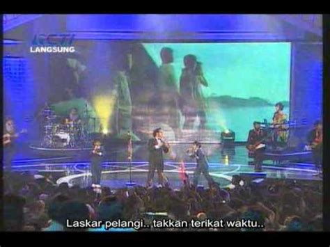 film laskar pelangi youtube nidji laskar pelangi indonesian movie award 2009 with