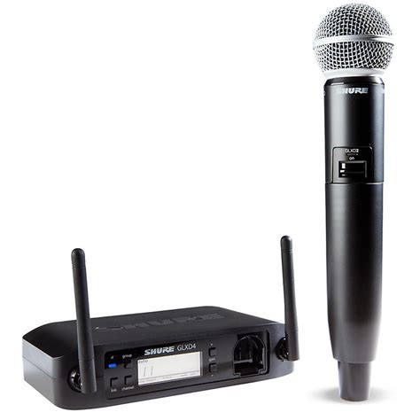 Mic Shure Glxd 24 shure glx d wireless vocal system with sm58 mic z2 music123