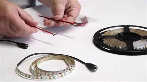 How To Cut Connect Power Led Strip Lighting Youtube How To Install Led Light Strips On Car