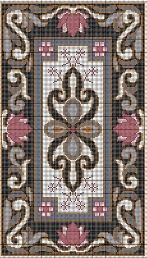 cross stitch rug cross stitch lotus rug pattern no color chart just use pattern chart colors as your guide