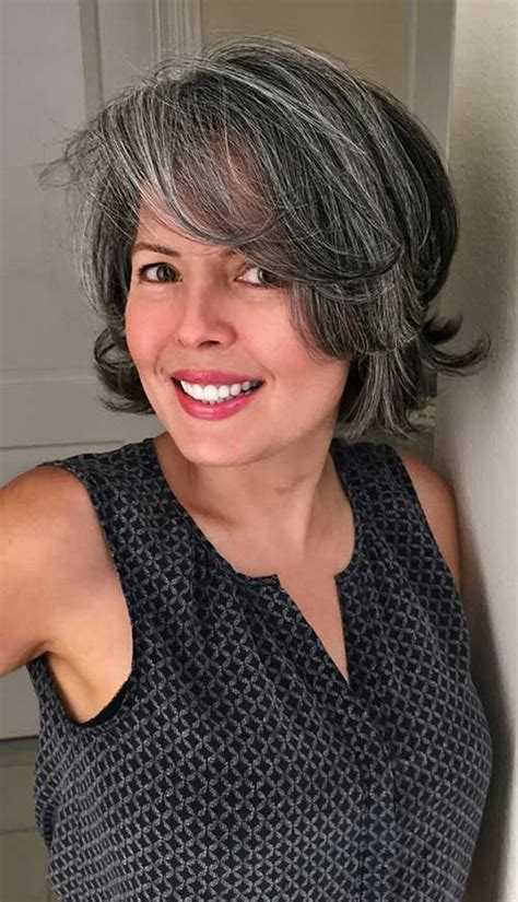 salt and pepper bob hairstyles for women really stylish bob haircuts for women over 50 bob