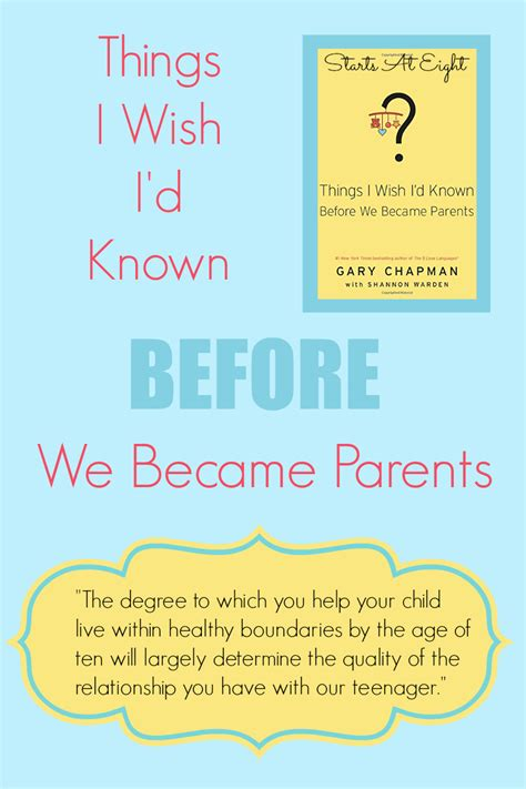 8 Things I Wish Id Always Known About by Things I Wish I D Known Before We Became Parents
