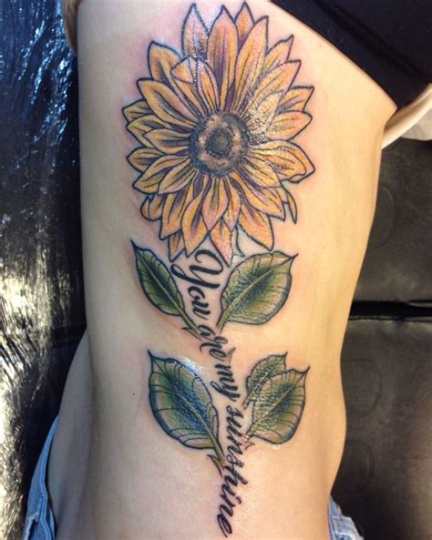 sunflower tattoo quot you are my sunshine quot tattoo