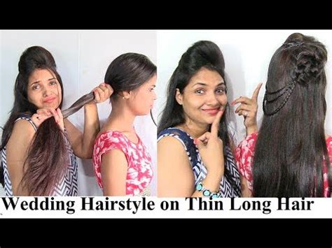 Indian Wedding Hairstyles For Thin Hair by Wedding Hairstyle On Thin Hair Indian Wedding