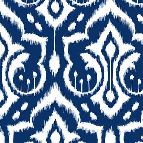The Midnight Navy Ravre Originals ikat damask midnight navy wallpaper pattysloniger