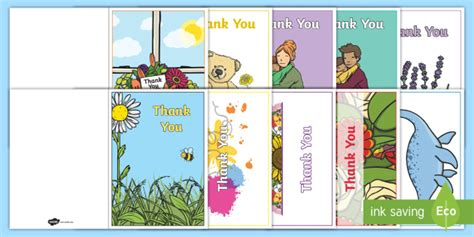thank you card template with photo free thank you card writing template blank editable
