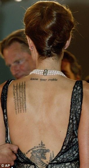 angelina jolie tattoos reveals children want tattoos but